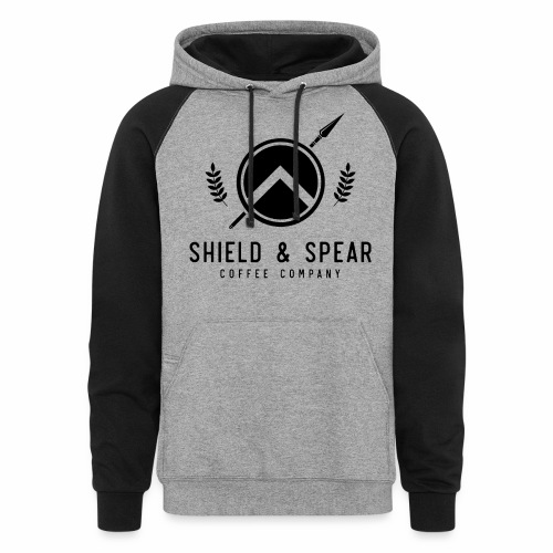 Shield and Spear Black Logo - Colorblock Hoodie