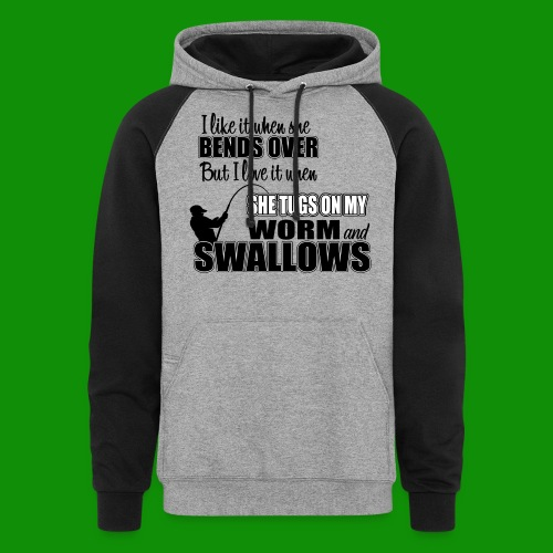 Worm & Swallows - Unisex Colorblock Hoodie