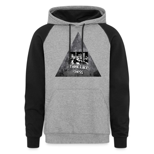Think Like Chess Logo - Colorblock Hoodie