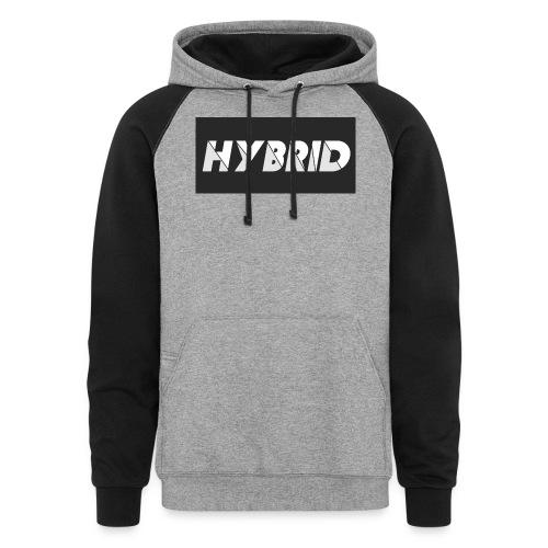 HYBRID GRAY BLACK LOGO - Colorblock Hoodie