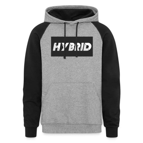 HYBRID GRAY BLACK LOGO - Unisex Colorblock Hoodie