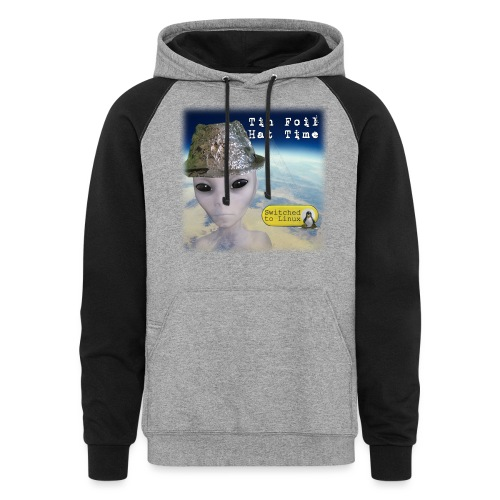 Tin Foil Hat Time (Earth) - Unisex Colorblock Hoodie