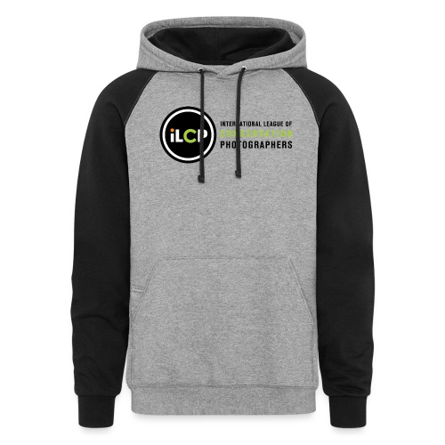 iLCP logo horizontal RGB png - Unisex Colorblock Hoodie