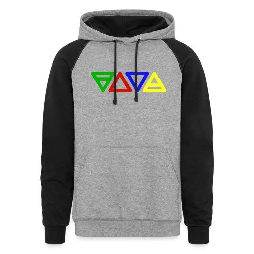elements symbols - Colorblock Hoodie