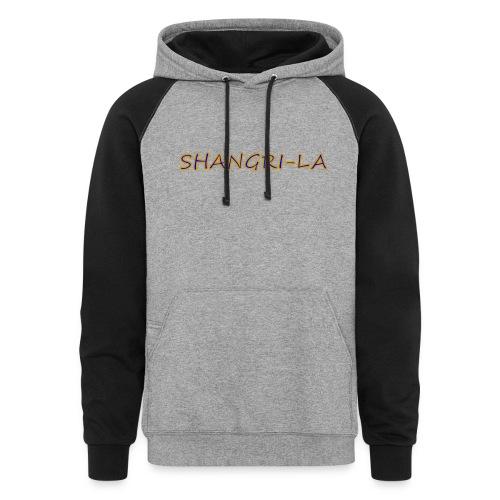 Shangri La gold blue - Colorblock Hoodie