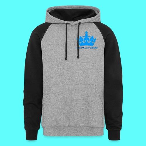 Blue Crown - Unisex Colorblock Hoodie