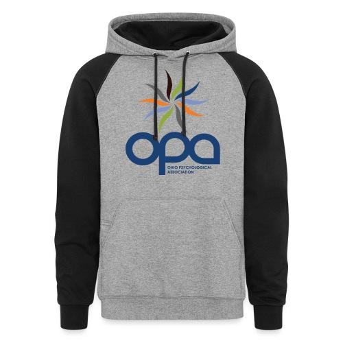 Hoodie with full color OPA logo - Unisex Colorblock Hoodie