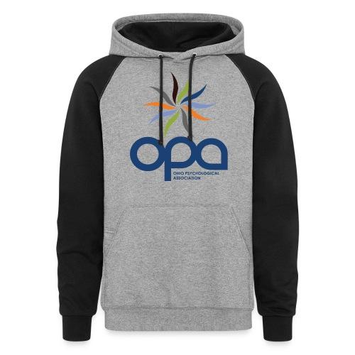 Hoodie with full color OPA logo - Colorblock Hoodie