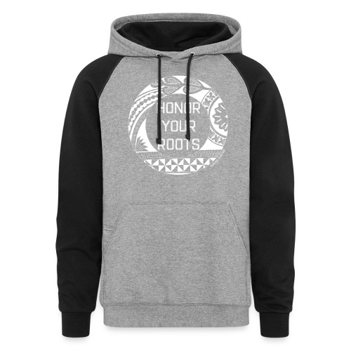 Honor Your Roots (White) - Colorblock Hoodie