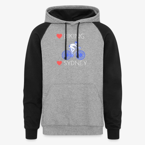 Love Biking Love Sydney tee shirts - Colorblock Hoodie