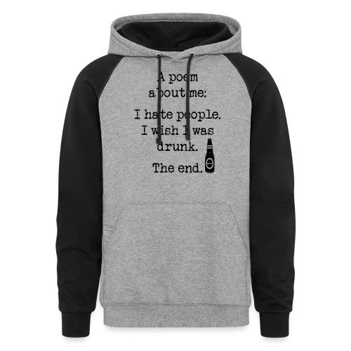 I Wish I Was Drunk Women's Long Sleeve T-Shirt - Colorblock Hoodie