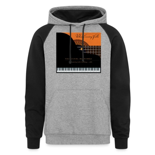 When Evening Falls CD Cover - Unisex Colorblock Hoodie