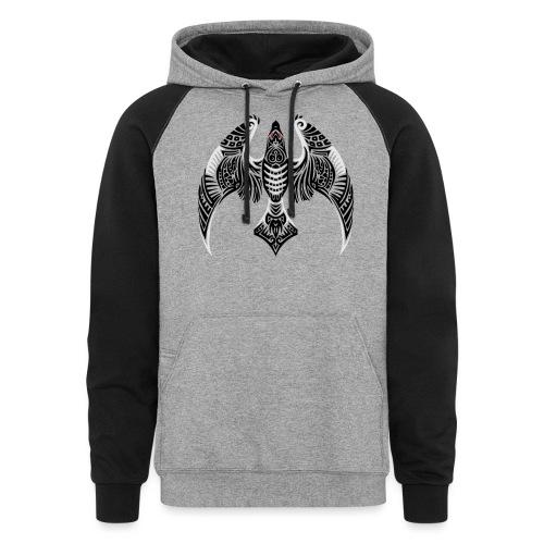 Hawk Totem - Colorblock Hoodie