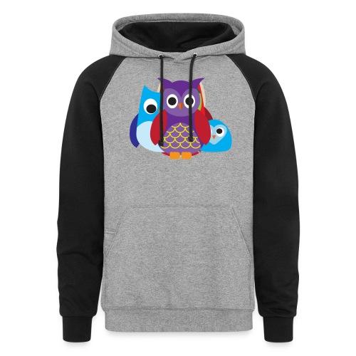 Cute Owls Eyes - Colorblock Hoodie