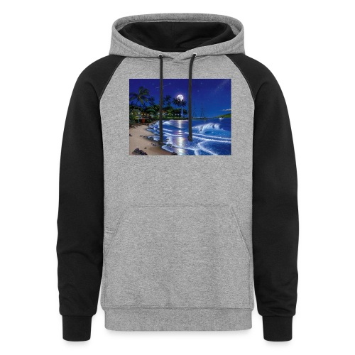 full moon - Colorblock Hoodie
