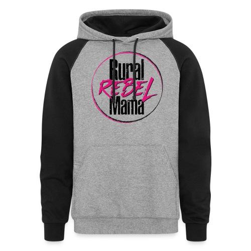Rural Rebel Mama Logo - Unisex Colorblock Hoodie