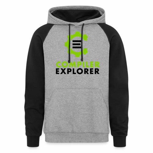Logo and text - Unisex Colorblock Hoodie