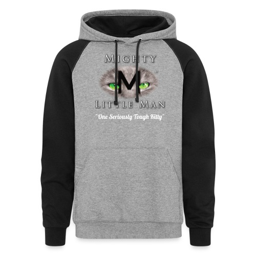 MIGHTY LITTLE MAN Logo - Unisex Colorblock Hoodie
