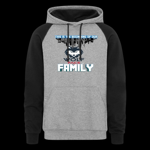 We Are Linked As One Big WolfPack Family - Colorblock Hoodie