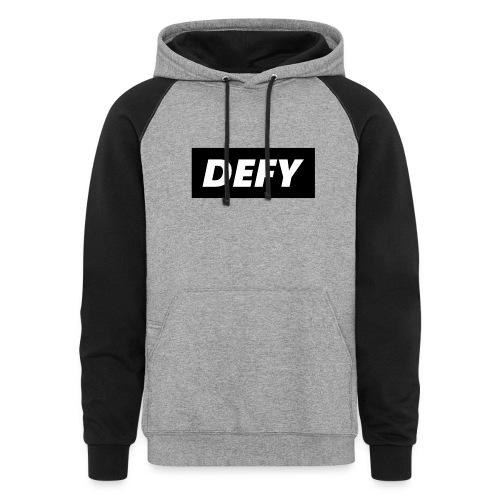 defy logo - Colorblock Hoodie