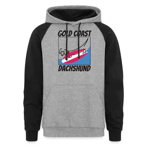 Gold Coast Dachshund - Unisex Colorblock Hoodie