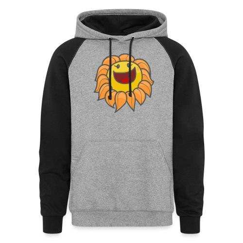 Happy sunflower - Unisex Colorblock Hoodie