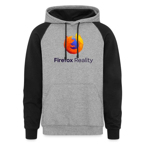 Firefox Reality - Transparent, Vertical, Dark Text - Colorblock Hoodie