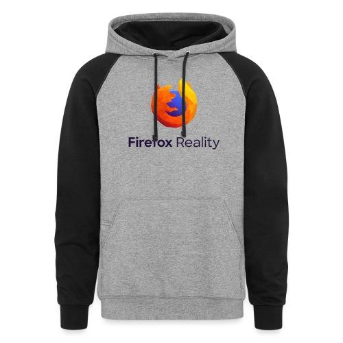 Firefox Reality - Transparent, Vertical, Dark Text - Unisex Colorblock Hoodie