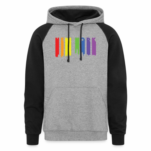 New York design Rainbow - Colorblock Hoodie