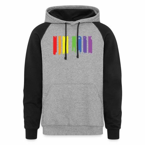 New York design Rainbow - Colorblock Hoodie