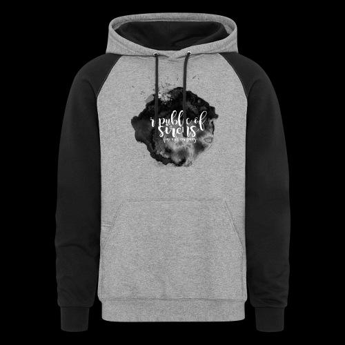 ROS FINE ARTS COMPANY - Black Aqua - Unisex Colorblock Hoodie