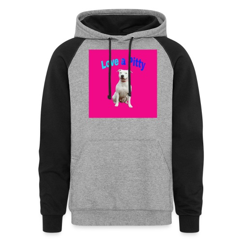 Pink Pit Bull - Colorblock Hoodie