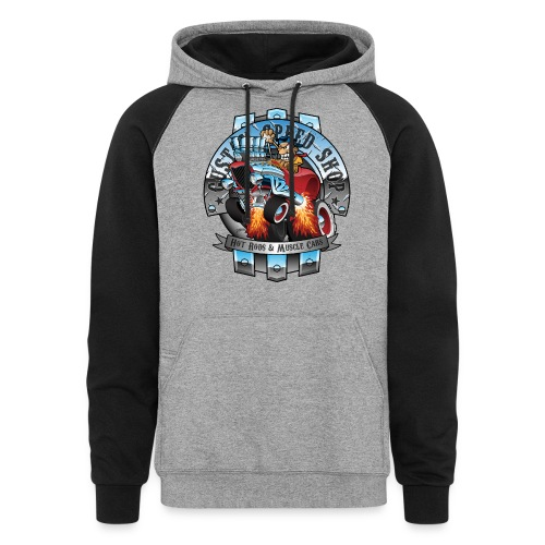 Custom Speed Shop Hot Rods and Muscle Cars Illustr - Colorblock Hoodie