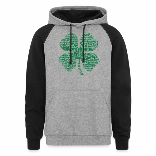 Shamrock Word Cloud - Colorblock Hoodie