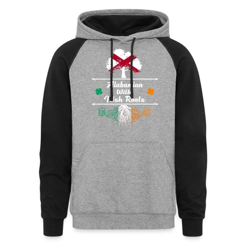 ALABAMIAN WITH IRISH ROOTS - Colorblock Hoodie