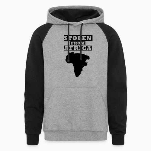 STOLEN FROM AFRICA LOGO - Colorblock Hoodie