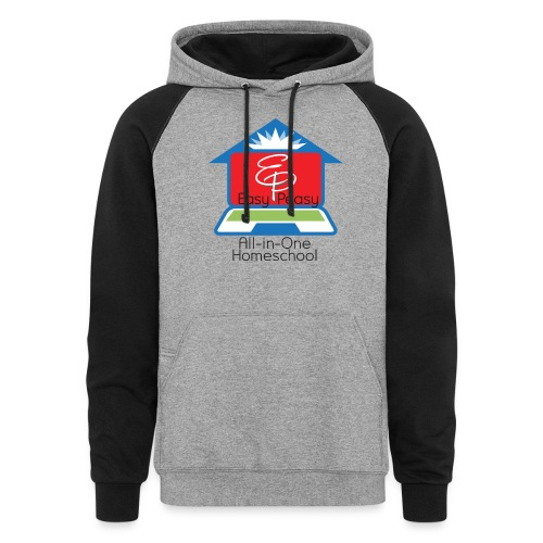 EP Logo with All-In-One Homeschool - Unisex Colorblock Hoodie