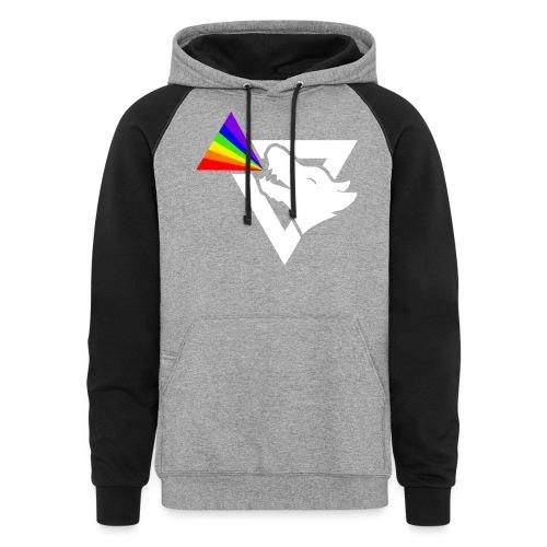 thatz gaming logo white - Colorblock Hoodie