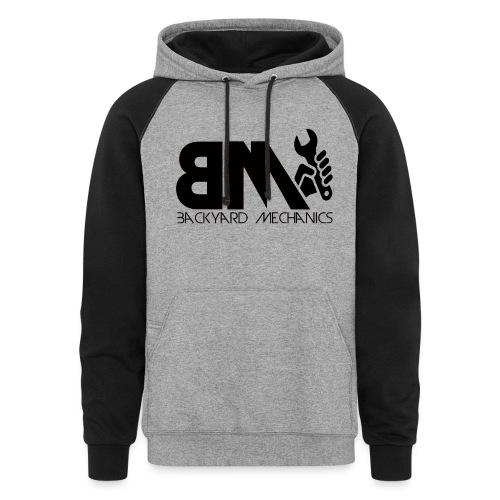 logo BM transparent - Colorblock Hoodie