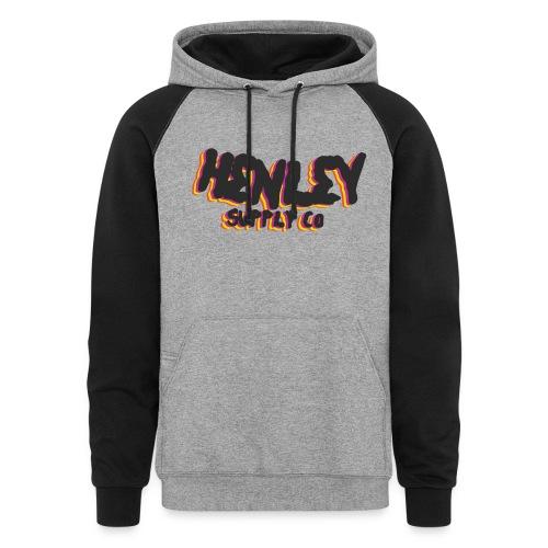 Henley Retro T-Shirt - Colorblock Hoodie