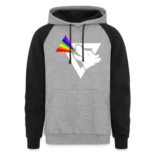 thatz gaming logo white - Unisex Colorblock Hoodie