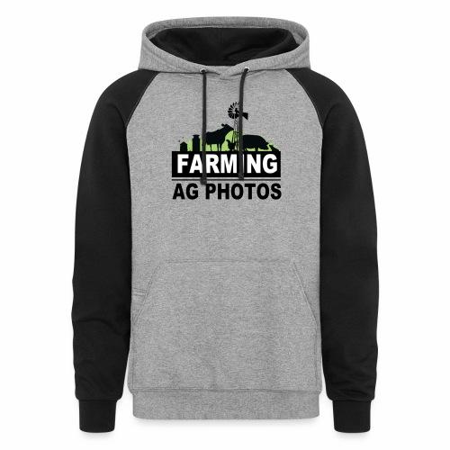 Farming Ag Photos - Unisex Colorblock Hoodie