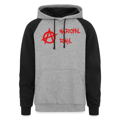 Anarchy Army LOGO - Colorblock Hoodie