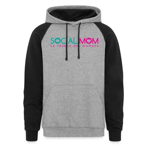 Social.mom logo français - Colorblock Hoodie