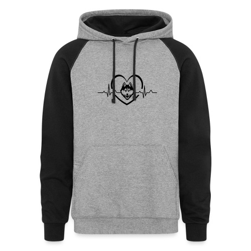 Love every beat for Husky T-Shirt - Unisex Colorblock Hoodie