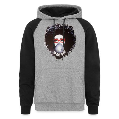 Afro pop_ - Unisex Colorblock Hoodie