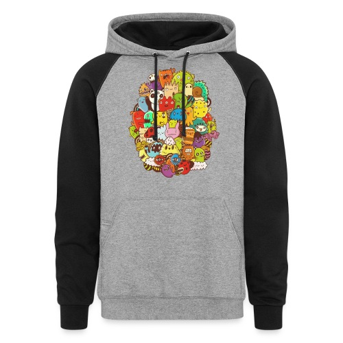 Doodle for a poodle - Colorblock Hoodie