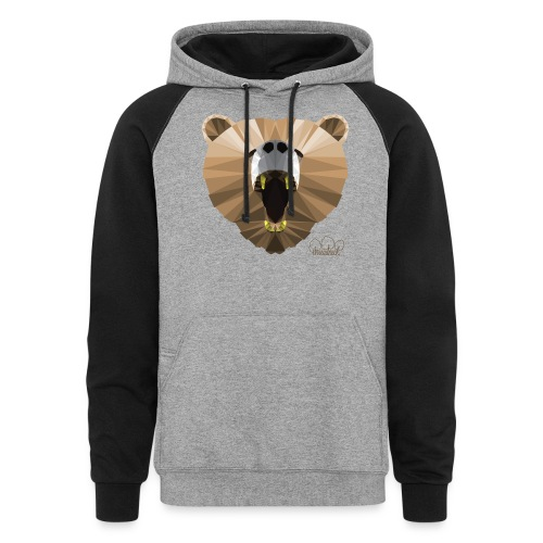 Hungry Bear Women's V-Neck T-Shirt - Unisex Colorblock Hoodie