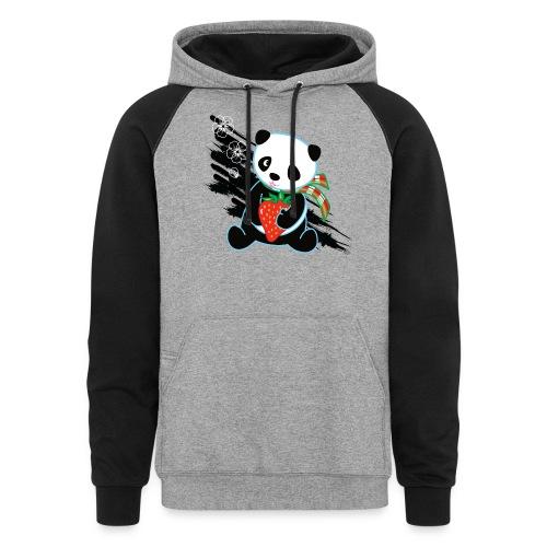 Cute Kawaii Panda T-shirt by Banzai Chicks - Unisex Colorblock Hoodie