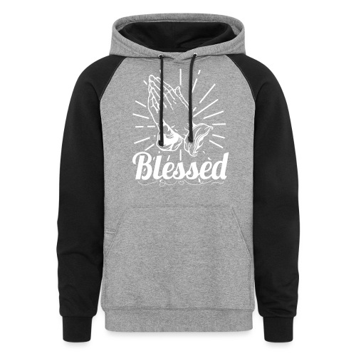 Blessed (White Letters) - Colorblock Hoodie